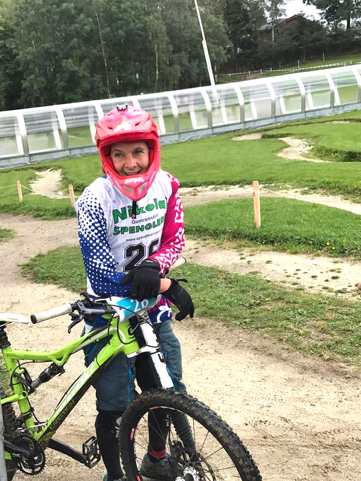 Eva at a mountain bike race